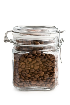 the coffee beans in glass jar Stock Photo - 8275171