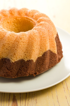 afters: marble cake on kitchen table Stock Photo