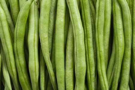 the green bean pods background photo