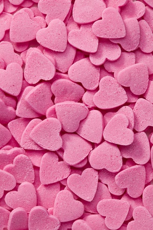 photo shot of pink hearts background