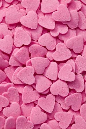 Foto colpo di cuori rosa sfondo