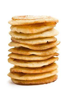 pile of pancakes on white background photo