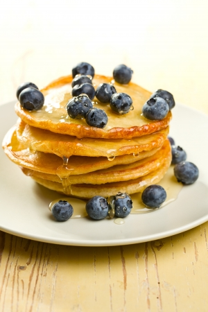 hotcakes: the tasty pancakes with blueberries