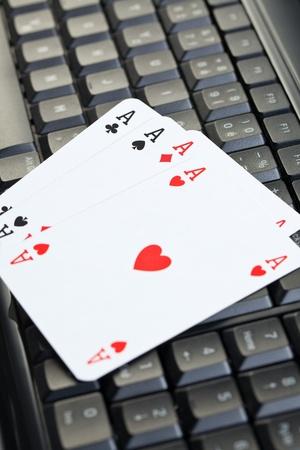 online poker gambling . poker cards photo