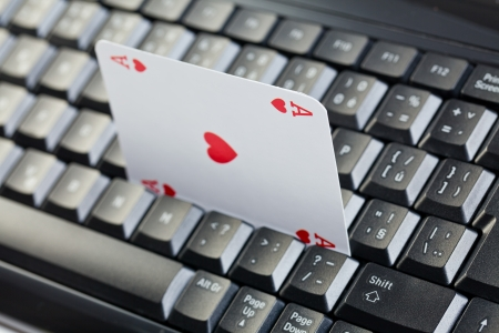 online poker gambling . poker cards photo