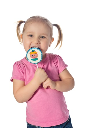 little girl with a lollipop photo