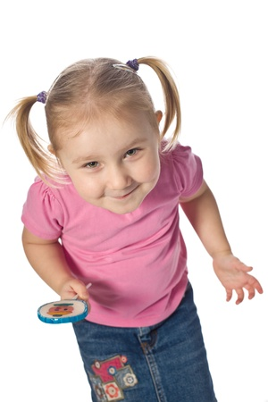 little girl with a lollipop Stock Photo - 8719128