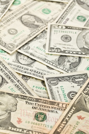 shot of dollars background