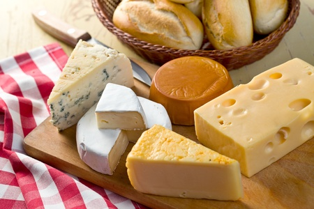 cheeses: the still life with cheeses Stock Photo