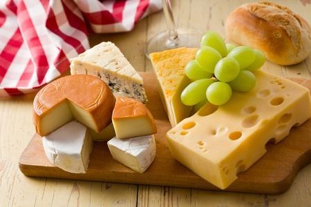 the still life with cheeses Stock Photo - 8809529
