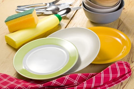shot washing dishes photo
