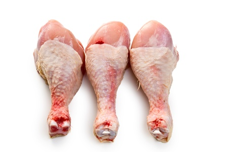 raw chicken legs on white background Stock Photo - 8914716