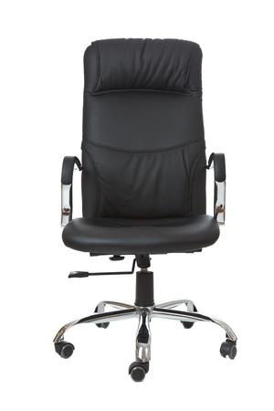 sedia vuota: la sedia da ufficio su sfondo bianco