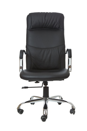 Wheel chair: the office chair on white background