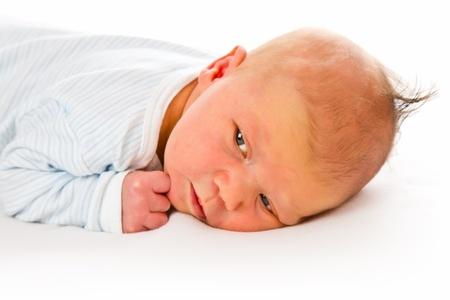 the newborn baby on white background Stock Photo - 9122500