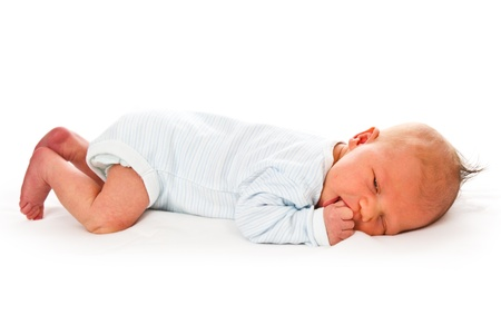 the newborn baby on white background Stock Photo - 9122483