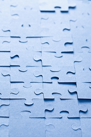 the blue jigsaw puzzle background Stock Photo - 9122375