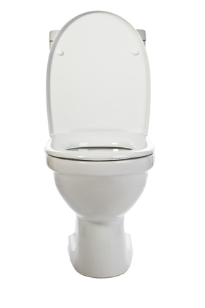 white ceramic toilet on white background Stock Photo - 9305859