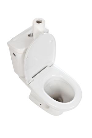 white ceramic toilet on white background Stock Photo - 9305860