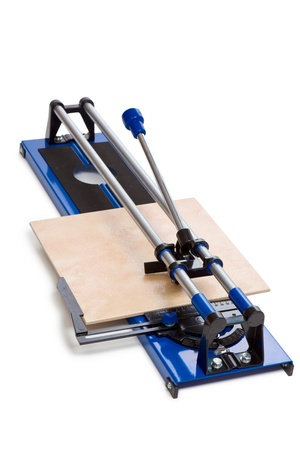 tile cutter: tile cutter on white background Stock Photo