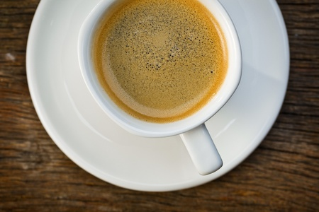 the top view of cup of espresso Stock Photo - 9305900