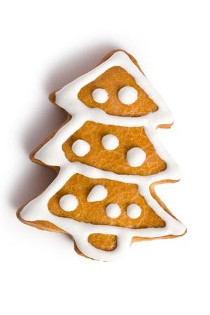 galletas de navidad: captura de foto de pan de jengibre de Navidad sobre fondo blanco