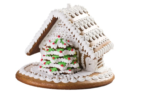 the sweet christmas gingerbread house photo