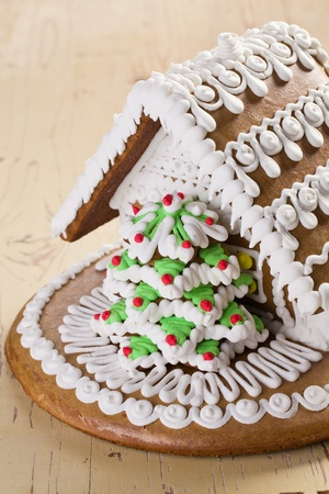 the sweet christmas gingerbread house Stock Photo - 10390143