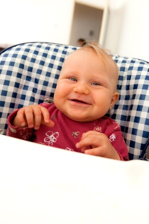 the little baby sitting on children's chair Stock Photo - 11496967