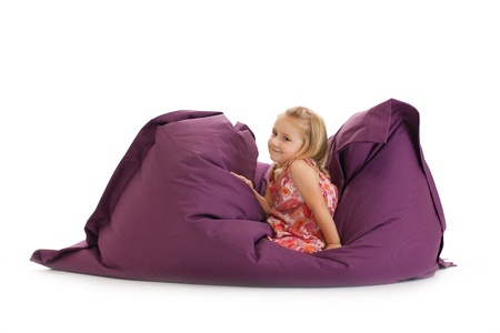 the little girl posing on beanbag Stock Photo - 11496962