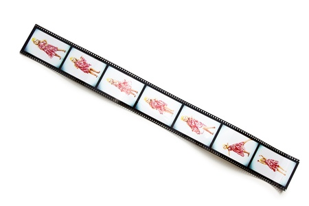 the filmstrip with dancing girl photo