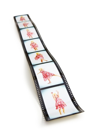 gril: the filmstrip with dancing girl