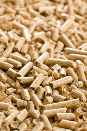 the wooden pellet .ecological heating photo