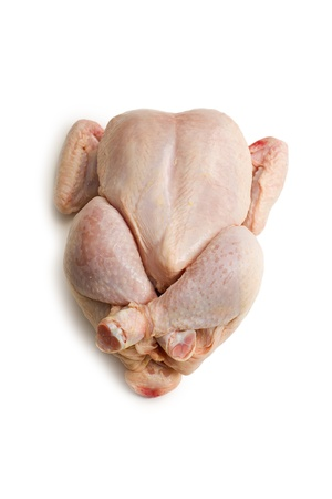 carcass meat: raw chicken meat on white background