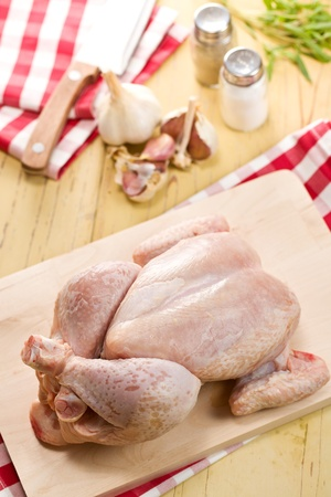 raw chicken meat on kitchen table Stock Photo - 11557714