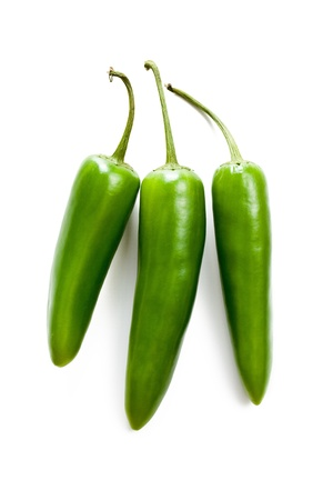 jalapeno: Jalapenos Chili Peppers on white background