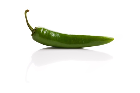 Jalapenos Chili Peppers on white background Stock Photo - 11557178