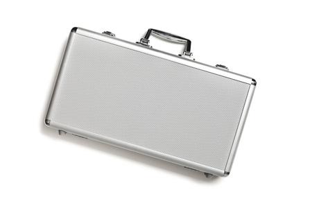 Security aluminum case on white background Stock Photo - 12502106