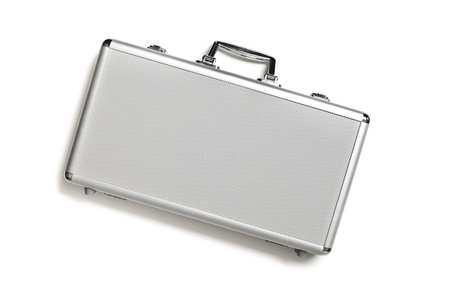 Security aluminum case on white background Stock Photo - 12502106