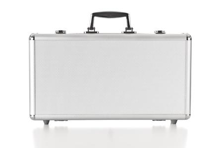 Security aluminum case on white background photo