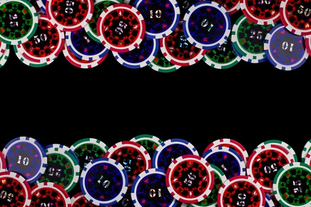 the colorful poker chips background Stock Photo - 12509766