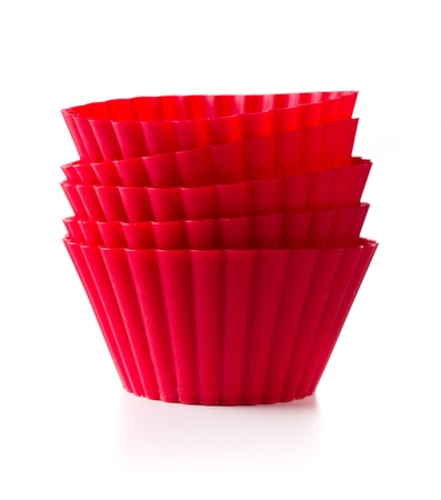 silicone: les gobelets rouges cuisson silicone