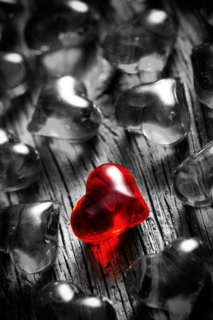 shining red heart Stock Photo - 12997758