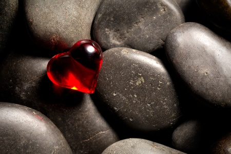 shining red heart Stock Photo - 12997804