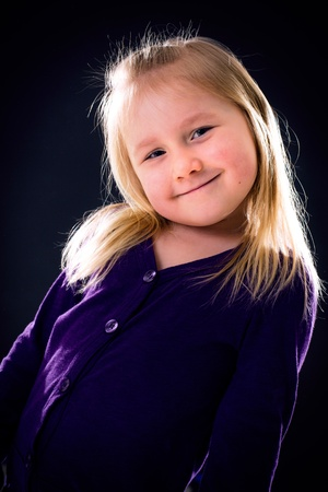 the studio portrait of young girl Stock Photo - 12997759