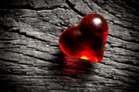 photo shot of shining red heart photo