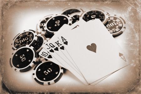 Foto colpo di concept poker d'epoca