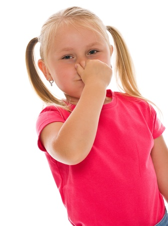 stench: little girl covering nose