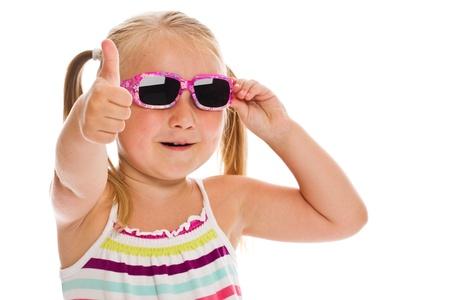 little girl in sunglasses   photo