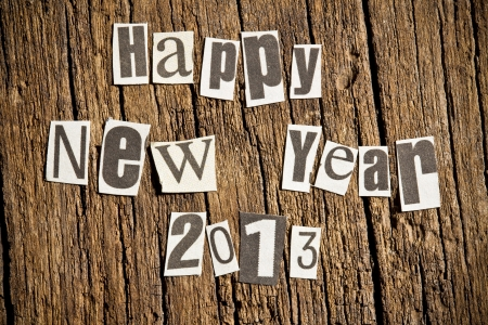 New Year wishes  Shot with newspaper letters  photo
